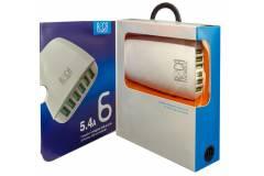 Cargador Inteligente Standard ROCA 5.4A/6 USB