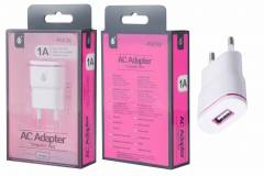 P6038 - Cargador Std One+ USB 1A - Bl/Ro (sin cable)