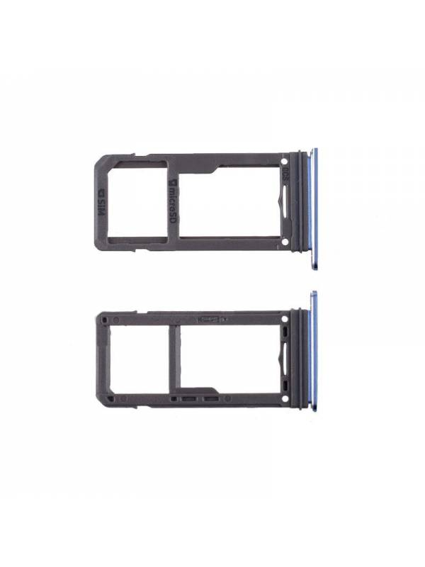 Bandeja SIM Card Samsung G955/S8 Plus Azul