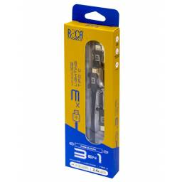 Cable de Datos ROCA 3in1 microUSB+iPhone+Tipo C