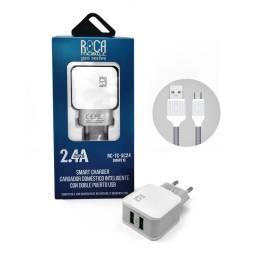 Cargador Inteligente Standard ROCA 2.4A + Cable microUSB
