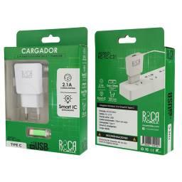 Cargador Inteligente ROCA 2.1A | 1 USB | Tipo C