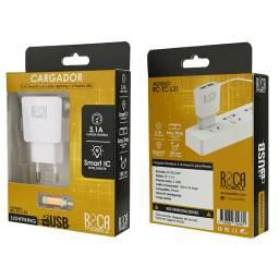 Cargador Inteligente ROCA 3.1A | 2 USB | Lightning