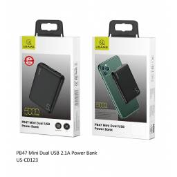 US-CD123 | Power Bank 5000mAh | Dual USB | 2.1A | Negro