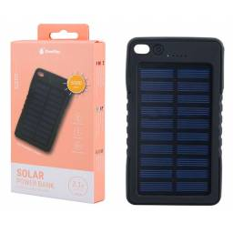 D2372 | Power Bank Solar | 5000mAh | 1 USB | Negro