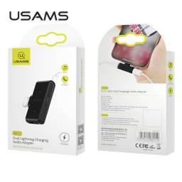 US-SJ385 | Adaptador Lightning | Audio + Carga | Negro (Lightning+3,5mm)