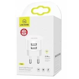 US-T20 | Cargador USB | 2 USB | 2.1A | Cable Lightning