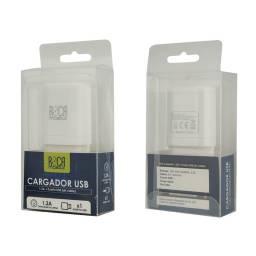 Cargador ROCA 1.2A | 1 USB | Sin Cable