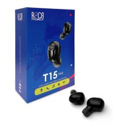 Auricular Bluetooth TWS Roca T15 Negro (Tipo Galaxy Buds)