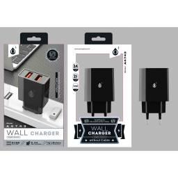 A4743 | Cargador Standard | 2,4A | 2 USB | Gris