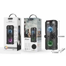 F6005 | Parlante Bluetooth | 10W | Negro | TWS | FM/TF/USB