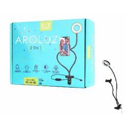 Aro de Luz AL02 - 12W/48 Leds | USB | Pinza