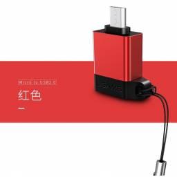 SJ187 | Adaptador microUSB OTG | USB 2.0 | Rojo
