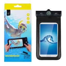 J6017 | Funda a prueba de água | Tamaño iPhone 6 Plus | Negro