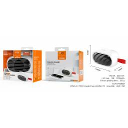 TF4159 | Parlante Bluetooth | 5W | Blanco | TWS1200mAhFMUSBSDAux
