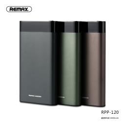 RPP-120 | Power Bank | 10.000mAh | Negro | 2 USB | Renor Series | Remax