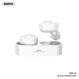 TWS-21   Auricular Bluetooth TWS   Blanco   Remax