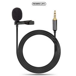 RL-LF31 | Micrófono c Conector de 3,5mm | 1,5M Cable | Clip | Negro | Remax