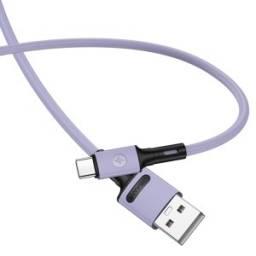 SJ435   Cable de Datos U52   microUSB   1M   Violeta   Datos&Carga   USAMS