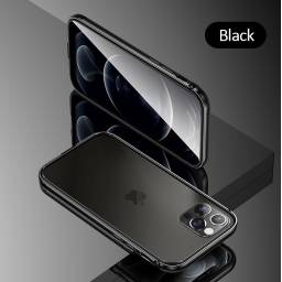 BH635 | Case | Apple iPhone 12 Pro Max | Black | 6,7''/Alumínio+TPU | Fellwell Series | USAMS