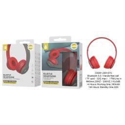 C6391 | Auricular Bluetooth | FM/SD/Aux | Rojo | One+ | 8944870163934