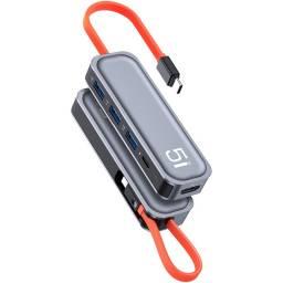 Adaptador Tipo C 5 en 1 | HDMI/PD/3xUSB | RCB0744 | Rock Space