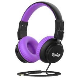 Auricular Stereo Gorsun E92V Violeta Infantil c/ Limitador de audio