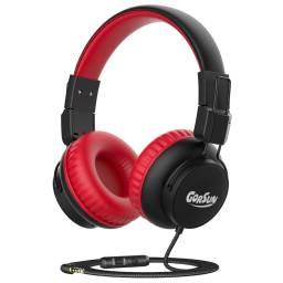Auricular Stereo Gorsun E92V Rojo Infantil c/ Limitador de audio