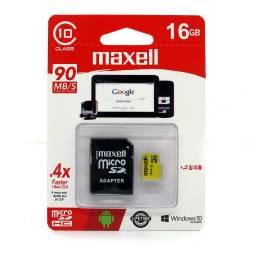 Tarjeta microSD Maxell 16GB SDHC Clase10 c/ adaptador SD