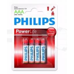 Pila Alkalina Philips AAA (4 unidades)
