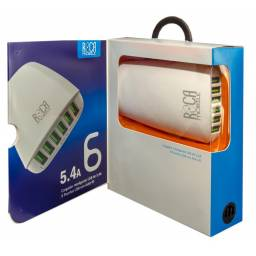 Cargador Inteligente Standard ROCA 5.4A6 USB