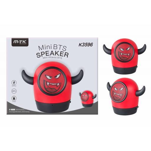 K3596 - Mini Parlante Bluetooth M.TK 3W/USB/TF/FM - Demo Rojo
