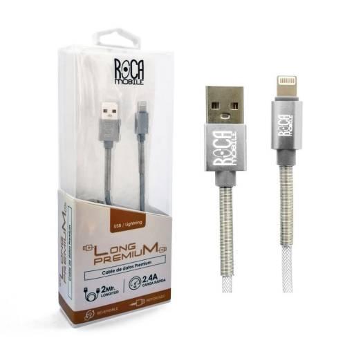 Cable de Datos ROCA Lightning - Premium, 200cm