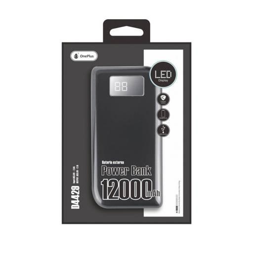 D4429 | Power Bank | 12.000mAh | 2 USB | LCD | Negro