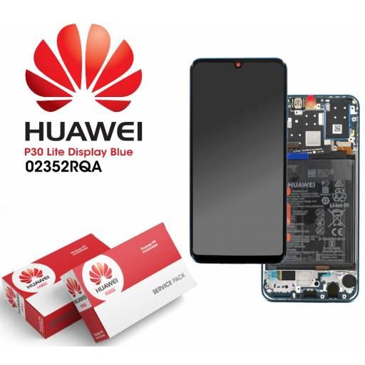 Display Huawei P30 Lite Comp c/M + Batería Azul | Original (02352RQA)