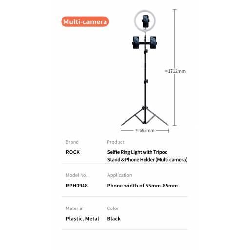 Aro de Luz c/ Tripode | Multi Camara | 172cm | RPH0948
