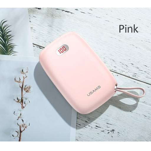 CD78 | Power Bank PB17 | 2 USB | 10.000mAh | Rosado | LCD