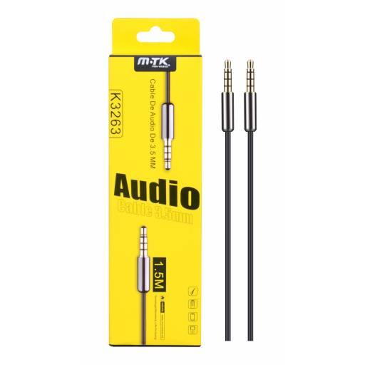 K3263   Cable Auxiliar   3,5 a 3,5mm   1,5M   Negro