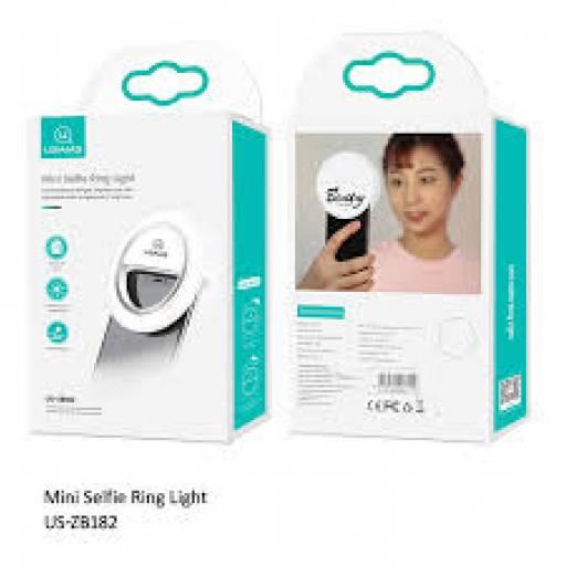 ZB182   Aro de Luz   8 LED Amarillo + 32 LED Blanco   Mini   Blanco   USAMS