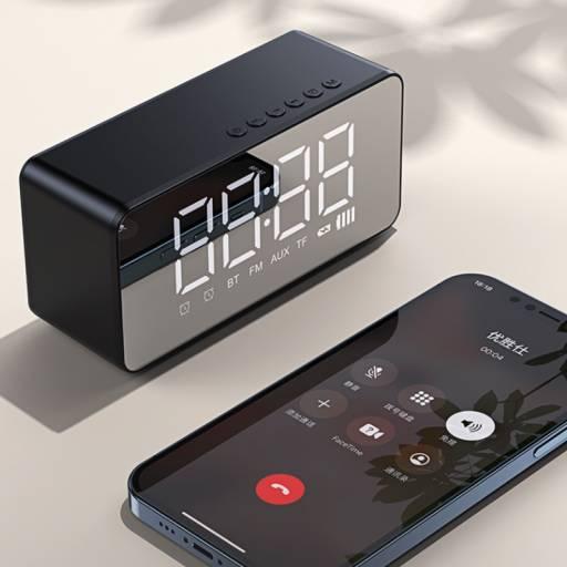 YX007 | Parlante Bluetooth | Reloj/Despertador | Negro