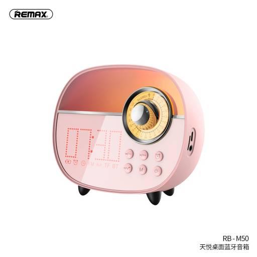 RB-M50   Parlante Bluetooth   3W   Rosado   Micrófono/Alarma/Aux/TF/FM   Tyard Desktop   Remax