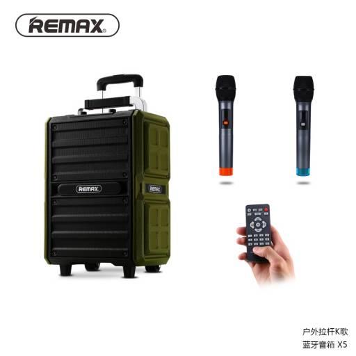 RB-X5 | Parlante Bluetooth + Micrófono | 50W | Negro | Karaoke/USB/Aux/TF | Song K | Remax