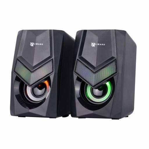 Parlantes Gamer   XZZ-SP-01   2x3W   RGB   USB+3,5mm   X-Lizzard