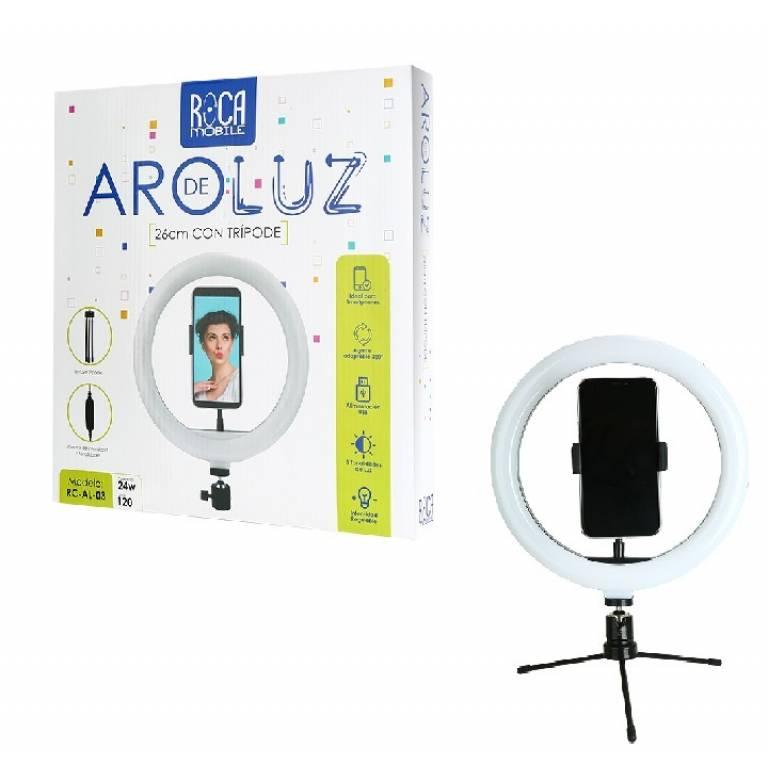 Aro de Luz AL03 - 24W/120 Leds/26cm | USB | Tripode