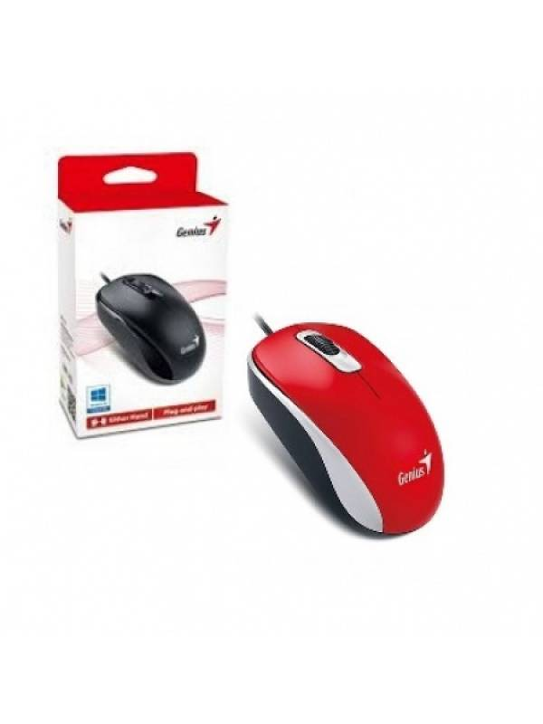 MOU96 - Mouse Genius DX-110 USB Rojo