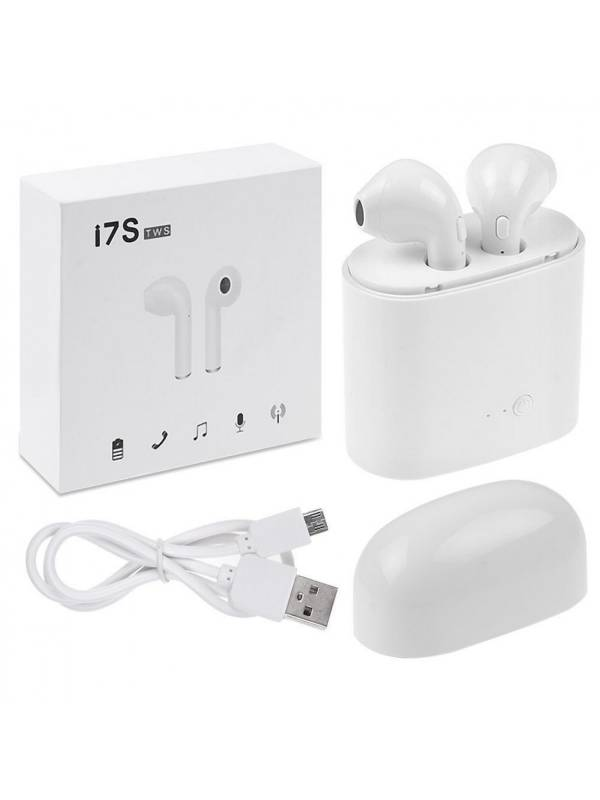 Auricular Bluetooth TWS i7s Mini Blanco (Tipo Air Pod)