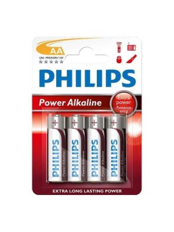 Pila Alkalina Philips AA (4 unidades)