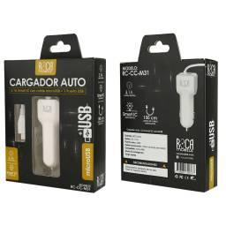 Cargador Inteligente Auto ROCA 3.1A | 1 USB | microUSB