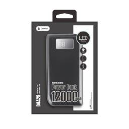 D4429 | Power Bank | 12.000mAh | 2 USB | LCD | Negro