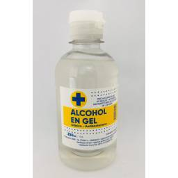 Botella Alcohol en Gel - 250 ml - Sin dispensador